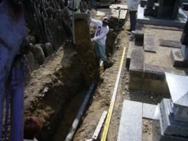 下水管の敷設